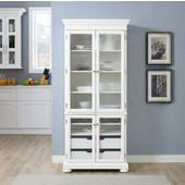 Alexandria Kitchen Pantry, White Finish, 19''W x 32-1/2''D x 74-1/2''H