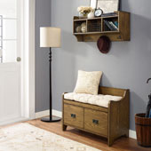 Fremont 2 pc Entryway Kit - Bench, Shelf in Coffee