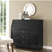 Sullivan Secretary Desk, 51''W x 19''D x 45''H, Black Finish