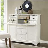 Sullivan Secretary Desk, 51''W x 19''D x 45''H, White Finish