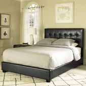 Andover Queen Bed Set, Black Leatherette Finish, 64''W x 81''D x 50-3/4''H