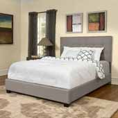 Andover Queen Bed Set, Shadow Gray Finish, 64''W x 81''D x 50-3/4''H