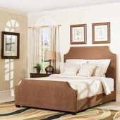 Brooks Queen Bed Set, Cocoa Microfiber Finish, 63-3/4''W x 83''D x 58-1/4''H