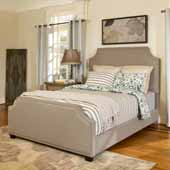 Brooks Queen Bed Set, Shadow Gray Linen Finish, 63-3/4''W x 83''D x 58-1/4''H