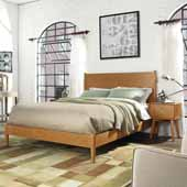 Landon Queen Bed Set, Acorn Finish, 64-1/4''W x 85-1/4''D x 45-3/4''H