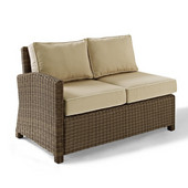 Crosley Bradenton Outdoor Wicker Sectional Right Corner Loveseat with Sand Cushions, 52-3/4''W x 31-1/2''D x 32-1/2''H