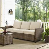 Bradenton Sofa with Sand Cushions, 81''W x 32-1/2''D x 33''H, Sand Finish