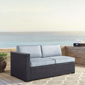 Biscayne Loveseat with int. Arm with Mist Cushions