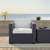 Biscayne Armchair with White Cushions