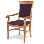 Remy Arm Chair, Upholstered Seat, Available in Different Grade Finishes