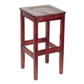 Bulldog Backless Wood Bar Stool with Wood Seat 24''