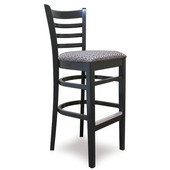 24'' Carole Ladder Back Wood Bar Stool, Available in Different Grade Finishes