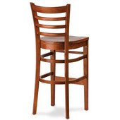 30'' Carole Ladder Back Wood Bar Stool with Upholstered Seat