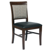 Remy Side Chair in Wood with Upholstered Seat, Available in Different Grade Finishes