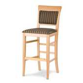 24'' Remy Bar Stool in Wood with Upholstered Seat, Available in Different Grade Finishes