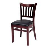 Grill Side Chair, Black Vinyl Seat