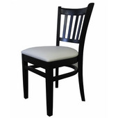 Grill Side Chair, Upholstered Seat, Available in Different Grade Finishes