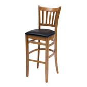 30'' H Grill  Bar Stool, Black Vinyl Seat