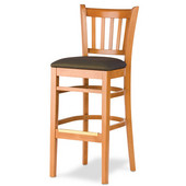 30'' H Grill  Bar Stool, Upholstered Seat, Available in Different Grade Finishes