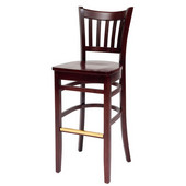24'' H Grill  Bar Stool, Wood Seat