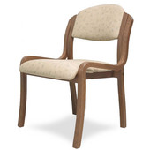 England Stacking Chair Armless, Upholstered Seat, Available in Different Grade Finishes