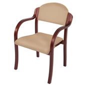 England Stacking Chair Arms, Upholstered Seat, Available in Different Grade Finishes