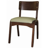 Carlo Stacking Chair Custom, Upholstered Seat, Grade 1 Finish