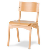 Carlo Stacking Chair,  Wood Seat