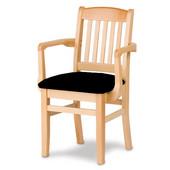Bulldog Arm Chair, Black Vinyl Seat
