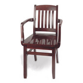 Bulldog Arm Chair, Wood Seat