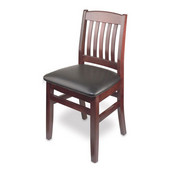 Bulldog Side Chair, Black Vinyl Seat