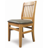 Bulldog Side Chair, Upholstered Seat, Available in Different Grade Finishes