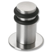 Collection Stainless Steel Round Floor Door Stop in Polished Finish