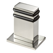 Vision Collection Stainless Steel Rectangle Floor Door Stop in Satin Finish
