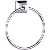 Trans-Modern 6-1/2'' Round Towel Ring, Polished Chrome Finish, 6-5/8''W x 2-9/16''D x 7-3/8''H