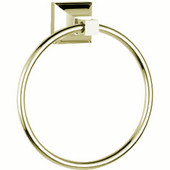 Trans-Modern 6-1/2'' Round Towel Ring, Polished Nickel Finish, 6-5/8''W x 2-9/16''D x 7-3/8''H