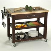 Pro Chef Food Prep Station in Espresso, 40-1/2'' W x 24'' D x 35-3/4'' H