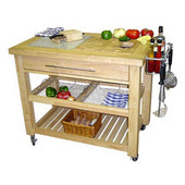 Pro Chef Food Prep Station in Natural, 40-1/2'' W x 24'' D x 35-3/4'' H