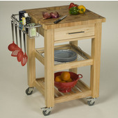 Pro Chef Food Prep Station with End Grain Top in Natural, 23-3/4'' W x 23-3/4'' D x 35-3/4'' H