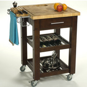 Pro Chef Food Prep Station with End Grain Top in Espresso, 23-3/4'' W x 23-3/4'' D x 35-3/4'' H