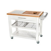 Pro Chef Food Prep Station in White, 40-1/2'' W x 24'' D x 35-3/4'' H
