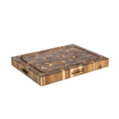 Solid Endgrain Acacia Reversible Cutting Board, 20''W x 15''D x 2-1/4''H