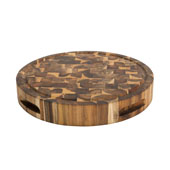 Solid Acacia Reversible Chopping Block, 16'' Diameter x 2-3/4''H