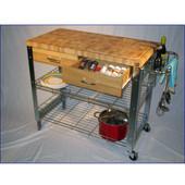 - Stadium Kitchen Workstation Cart, 38-3/8'' W x 20-1/8'' D x 35'' H