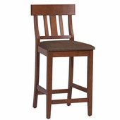 Torino Collection Slat Back Counter Stool, Dark Cherry, 24''