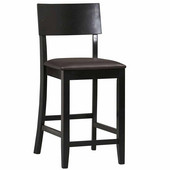 Torino Collection Contemporary Counter Stool, Black, 24''
