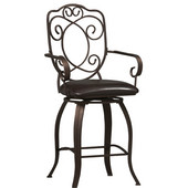 - Crested Back Counter Stool, 22 1/2'' W x 19'' D x 41 1/2'' H