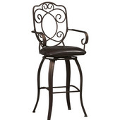- Crested Back Bar Stool, 22 1/2'' W x 19'' D x 47 1/2'' H
