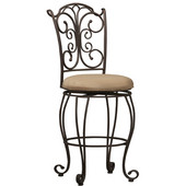 - Gathered Back Counter Stool, 19'' W x 21 1/2'' D x 41 1/2'' H