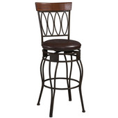 30'' Four Oval Back Bar Stools, 21''W x 16-3/4''D x 44''H, Matte Bronze